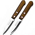 23427 Ножи 2штуки 7,6см. руч/буковое дерево на блистере МВ (х300)