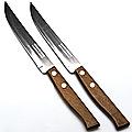 23428 Ножи 2штуки 11,5см. руч/ дерево на блистере МВ  (х300)