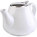 23056-4 Заварочный чайник БЕЛЫЙ 950мл керам LR (х24)