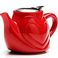 23058-5 Заварочный чайник КРАСНЫЙ КЕРАМИКА 500млLR(х24)