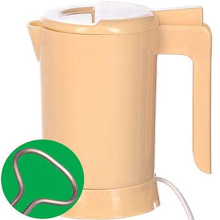 002-Б Мини чайник SH бежевый с теном 0,5л(х36)