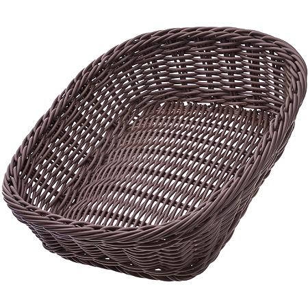 28251 Корзина плетёная пластик 26,5х19см МВ (х72)