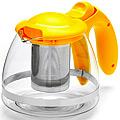 26172-2 Заварочный чайник ЖЕЛТЫЙ стекло 1,2л сито MB(х36)