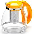 26170-2 Заварочный чайник ЖЕЛТЫЙ стекло 1,5л сито MB(х24)