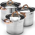27551 Набор посуды 6пр 5,3+6,8+8,6л зол/р MB (х2)