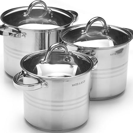 27552 Набор посуды 6пр 5,3+6,8+8,6л MB (х2)