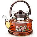 2591 Чайник заварочный SK 1,4л стекл/мет/сит (х12)