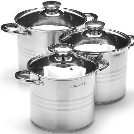 27554 Набор посуды 6пр 4+5,3+6,8л MB (х2)