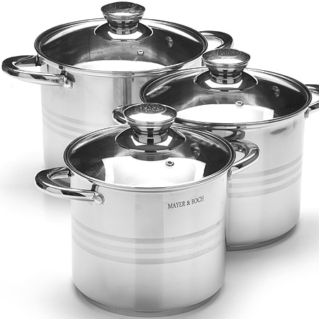27556 Набор посуды 6пр 5,3+6,8+8,6л зол/р MB (х2)