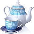 27844 Чайный сервиз 13 пр керамика 220мл LR (х4)