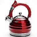 24968 Чайник метал 3л со свист. КРАСНЫЙ MB (х12)