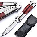 8554 Нож бабочка складной с чехлом (х12)