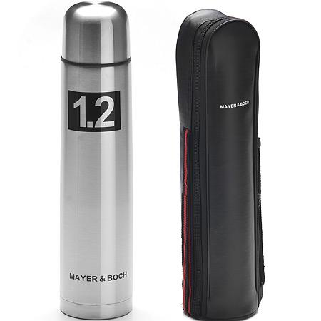 27614 Термос 1,2л нерж/сталь чехол-сумка MB (х24)