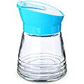 80520-1  Банка для сыпучих стекло ГОЛУБОЙ 200 мл MB (х30)