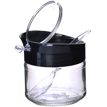 80522-1 Банка стекло с пласт ЧЕРНЫЙ 300 мл MB (х24)