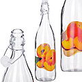 27066 Бутылка 1 литр стекло ПЕРСИК MB (х12)