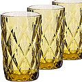 30473 Набор стаканов 370 мл 6шт ЯНТАРНЫЙ LR (х4)