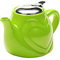 23058-7 Заварочный чайник  КЕРАМИКА ЗЕЛЕНЫЙ 500 мл LR (х24)