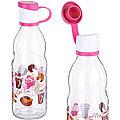 80538-1 Бутылка для жидкости стекло 0,5 л РОЗОВАЯ MB (х24)