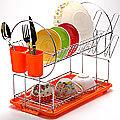 23219 Сушилка для посуды 43х9см ХРОМ МВ (х6)