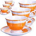 28596 Чайный набор 12пр 220мл фарфор под/упLR (х8)