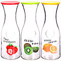 27825 Бутылка стеклянная 1 литр КРАСНАЯ LR (х12)