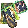 136-008 Набор перчатка+прихватка+полотенце (х72)