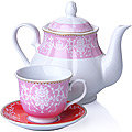 27843 Чайный сервиз 13 пр фарфор 220мл LR (х4)