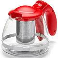 26172-1 Заварочный чайник КРАСНЫЙ стекло 1,2л сито MB(х36)