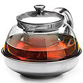26203 Заварочный чайник стекло 600мл+сито MB (х48)