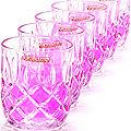 20221-1 Набор стаканов 6 предметов РОЗОВЫЙ LR(х12)