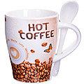 28467 Кружка COFFEE 340 мл с ложкой LR (х36)