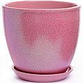 3015-3 Горшок кер. с поддоном 3015  2,5л розовый