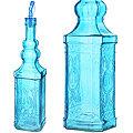 28194-4 Бутылка для масла 1000 мл стекло ГОЛУБОЙ LR (х12)