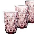 29671-1 Набор стаканов 6пр 370мл в под/упак ФИОЛЕТОВЫЙ LR(х4)