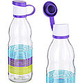 80538 Бутылка для жидкости стекло 0,5 л ФИОЛЕТОВАЯ MB (х24)