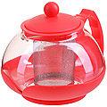 28827-1 Заварочный чайник 750мл нерж/сито КРАСНЫЙ MB (х24)