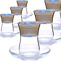 MS42021+54201-88 Набор 6 стаканов с блюдцами (х5)