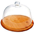 29911 Сырница БАМБУК стеклян.крышка 24 см.MB (х8)