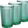 30858 Набор стаканов 350 мл 6шт ЗЕЛЁНЫЙ LR (х8)