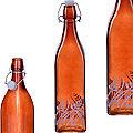 28173-3 Бутылка 500мл стекло с крышкой КОРИЧНЕВЫЙ LR (х24)