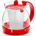 26175-1 Заварочный чайник КРАСНЫЙ стекло 0,8л сито MB(х48)
