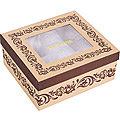 33202 Коробка для чайного сервиза 4пр 20,4х18,2х8,7 см LR (х1)