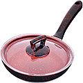 80220 Сковородка 20см алюм/мрам с крышкой Турция MB (х12)