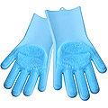 29043 Многофункциональные силиконовые перчатки ГОЛУБОЙ MB(х48)