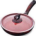 80221 Сковородка 22см алюм/мрам с крышкой Турция MB (х12)