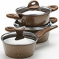 25075N Набор посуды 6пр с/кр 2+2,6+3,3 л Мрам/крош