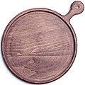 40396593 Блюдо круг 25 см с ручкой темная MB(х5)