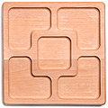 40396691 Менажница квадрат 25*25*2.5 см  MB(х5)