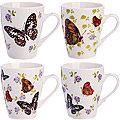 26586 Кружка 340мл Бабочки подар/упак LR (х48)